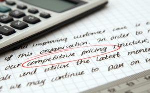 calculator on a written paper