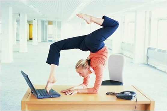 Flexible woman working